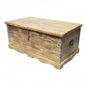 Indian Brasswork White Wash Blanket Box