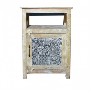 Contemporary Block Print Side Table