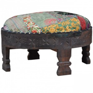 Tribal Grinder Round Small Ottoman