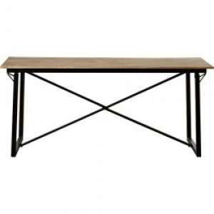 Barn Industrial Vintage Rectangle Dining Table with Metal Legs