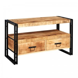Barn Industrial Mango Entertainment TV Unit Media Console 102x45x60cm
