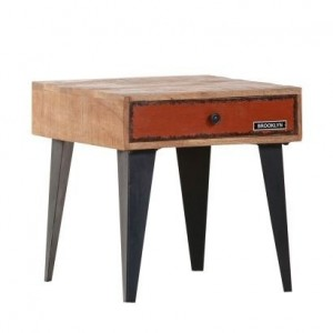 Lava Industrial Emboss Modern Side Table Lamp Corner Table Red