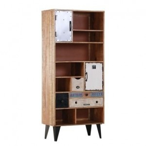 Lava Industrial Emboss Pressed Metal Bookshelf Book Case Display Stand