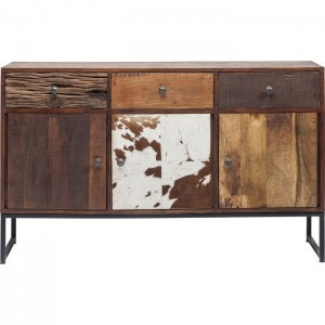 Lava Industrial Leather Sideboard Cowhide Buffet console 150cm