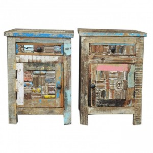 Liberty Reclaimed Timber Pair of Bedside
