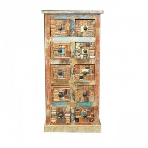 Liberty Reclaimed Wood Chest of 10 Drawers tallboy