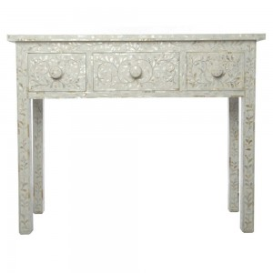 MAAYA WHITE MOTHER OF PEARL Hall table