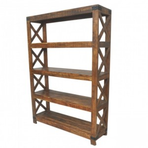 Metal Factory Bookshelf Brown Large