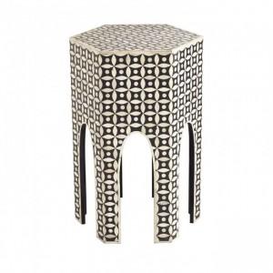 Maaya Bone Inlay Small Arabian Side Table Stool Stand