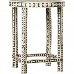 Maaya Bone Inlay Small Round Side Table Stool Stand A