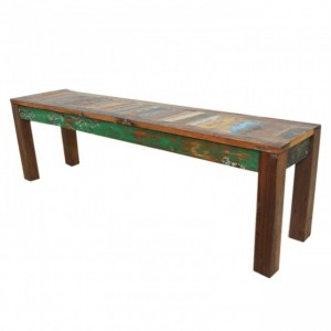 Nirvana Reclaimed Timber Boat wood Dining Bench 150cm