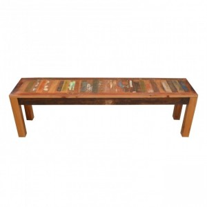 Nirvana Reclaimed Timber Boat wood Dining Bench 160cm