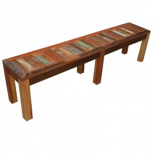 Nirvana Reclaimed Timber Boat wood Dining Bench 180cm