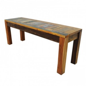 Nirvana Reclaimed Timber Boat wood Dining Bench 120cm