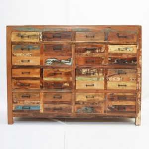 Nirvana Reclaimed timber Dresser Tallboy Chest of 10 drawers