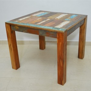Nirvana Reclaimed boat wood Dining Table 90x90cm S
