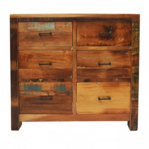 Nirvana Reclaimed timber Dresser Tallboy Chest of 6 drawers