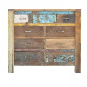 Nirvana Reclaimed timber Dresser Tallboy Chest of 9 drawers