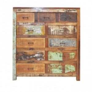 Nirvana Reclaimed timber Dresser Tallboy Chest of 11 drawers