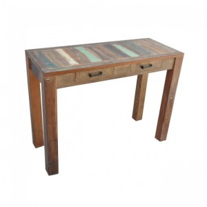 Nirvana Reclaimed Boat Timber Console Hall Table Desk