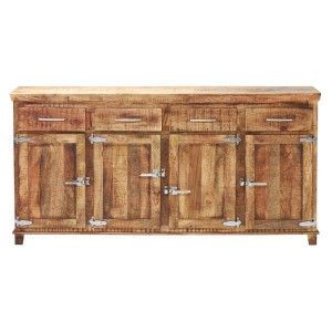 Cromer Icebox Dinning Buffet Sideboard With 4 Doors & Drawers Natural