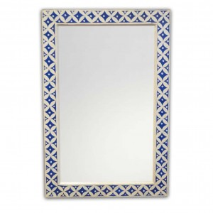 Pandora Bone Inlay Hand Painted Mirror Frame