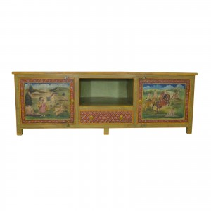 Mughal Hand Painted Entertainment Unit
