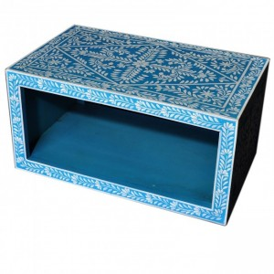 Pandora Bone inlay Blue Floral Coffee Table
