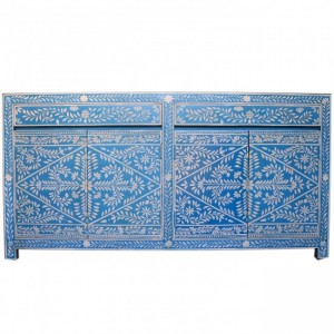 Pandora Bone inlay Blue Floral Sideboard