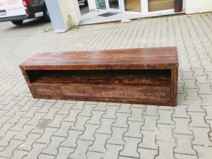 Rustica Indian Reclaimed Wood Tv Cabinet Natural  45 x 180 x 55 cm