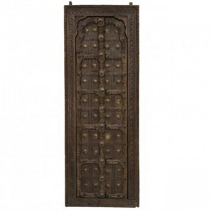 Hand Carved Brasswork Antique Indian Door