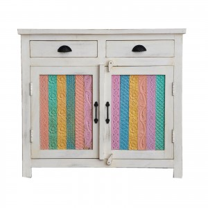Rainbow Carved Solid wood Panel Sideboard