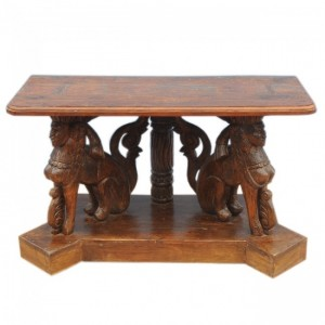 Hand Carved Unique Timber Sculpture Hall Table