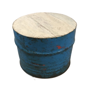 Recycled Oil Drum Table Seat Blue 57cm