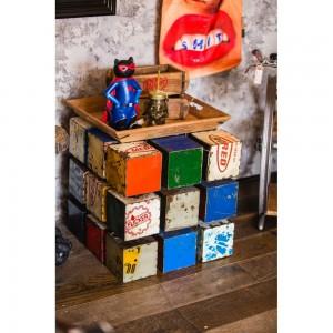 Rubik's Cube Drum Table