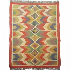 Kilim Wool Woollen Dhurrie Durry Rug Jute Floor Covering Pattern 1