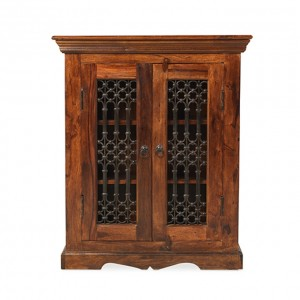Takat Metal Jali Natural Indian DVD Cabinet