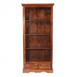 Takat Metal Jali Natural Indian 4 Shelf Bookcase