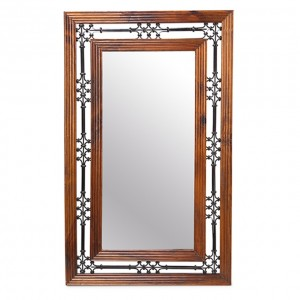 Takat Metal Jali Natural Indian Mirror