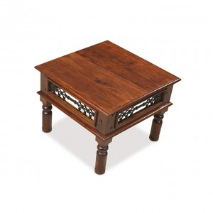 Takat Metal Jali Natural Indian Occasional Open Coffee Table