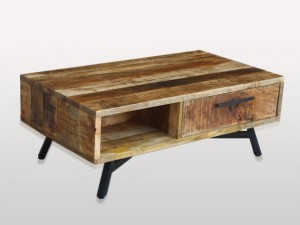 Miller Industrial Indian Solid Wood Retro Coffee Table B