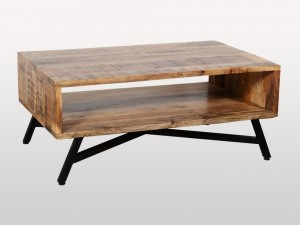 Miller Industrial Indian Solid Wood Retro Coffee Table