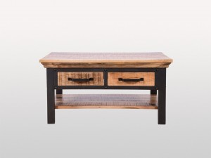 Miller Industrial Indian Solid Wood LENOX II Coffee Table With 4 Drawer
