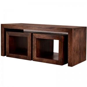 Boston  Kompact  Dark  Cubed John Long Coffee Table Set    Size:    D120 x W50 x H50
