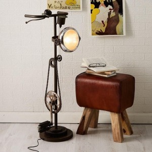 Upcycled Bike Lamp