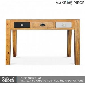 Vivid Solid Mango wood Console Hall table Study computer Desk 1.3m