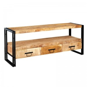 Barn Industrial Mango Entertainment TV Unit Media Console 150cm