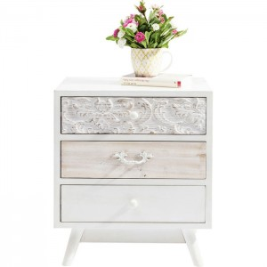 Vivid French Contemporary Mango Wood Small Dresser Chest of drawers 50x35x60.5