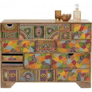 Vivid India Contemporary chest of drawers dresser sideboard 14 drawers