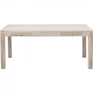 Vivid Blanche Contemporary Mango Wood Dining Table 1.8m 6-8 seater